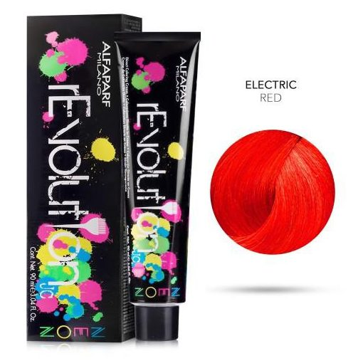 Alfaparf Revolution hajszínező Electric Red 90 ml