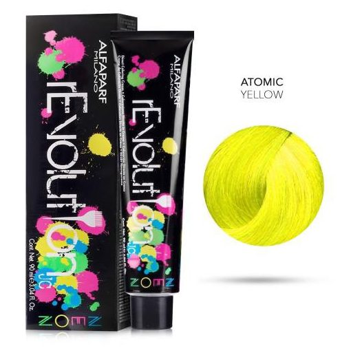 Alfaparf Revolution hajszínező Atomic Yellow 90 ml