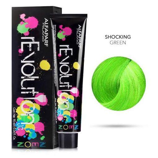 Alfaparf Revolution hajszínező Shocking Green 90 ml